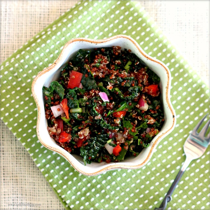 Red Quinoa and KaleSlaw