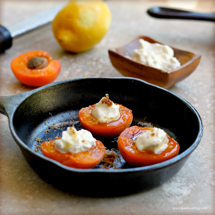 Apricot Brûlée: Roasted and Caramelized Apricots with Greek Yogurt and Lemon