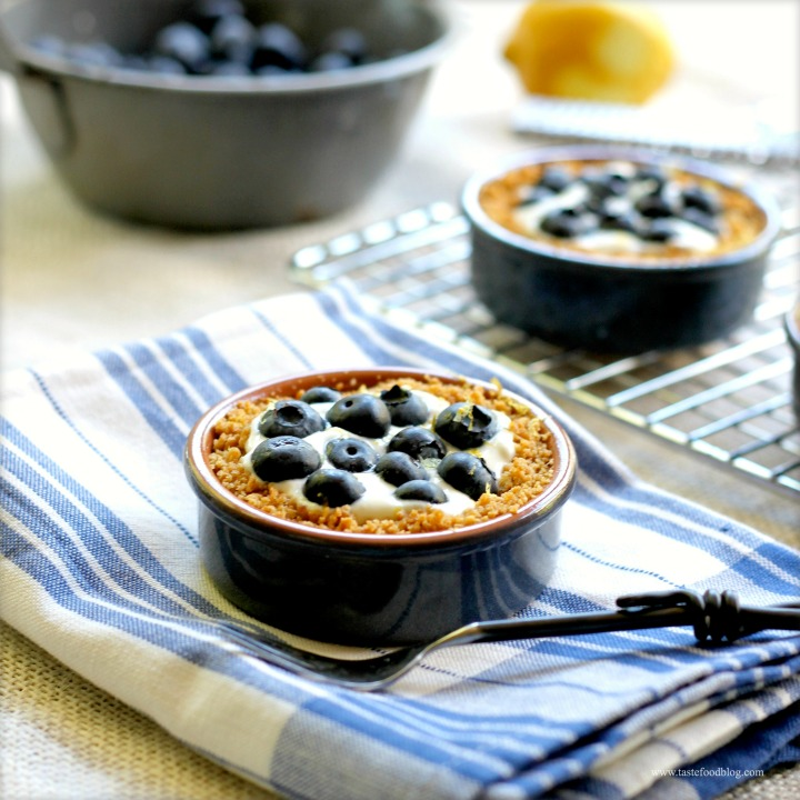 Blueberry Tartlets with Yogurt and Lemon