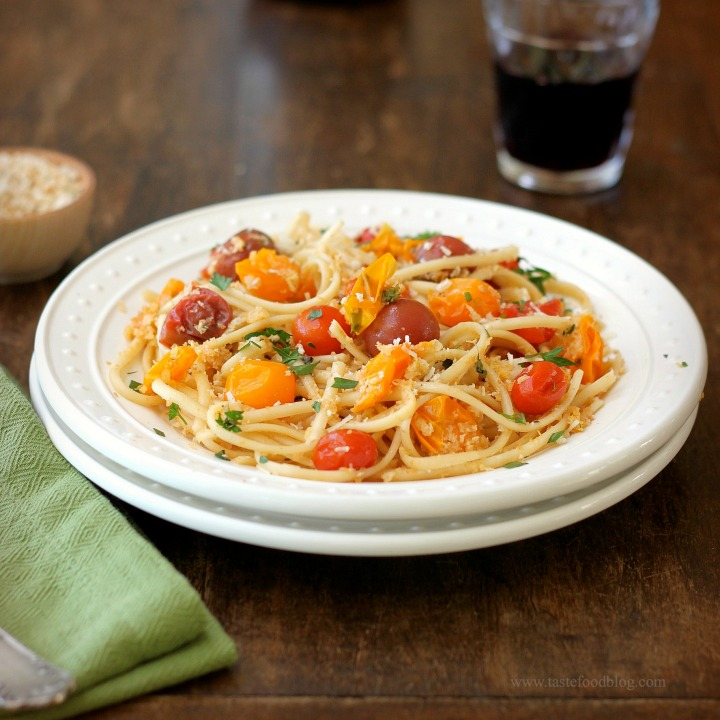 Weeknight Dinners: Linguine with Cherry Tomatoes and Breadcrumb Gremolata
