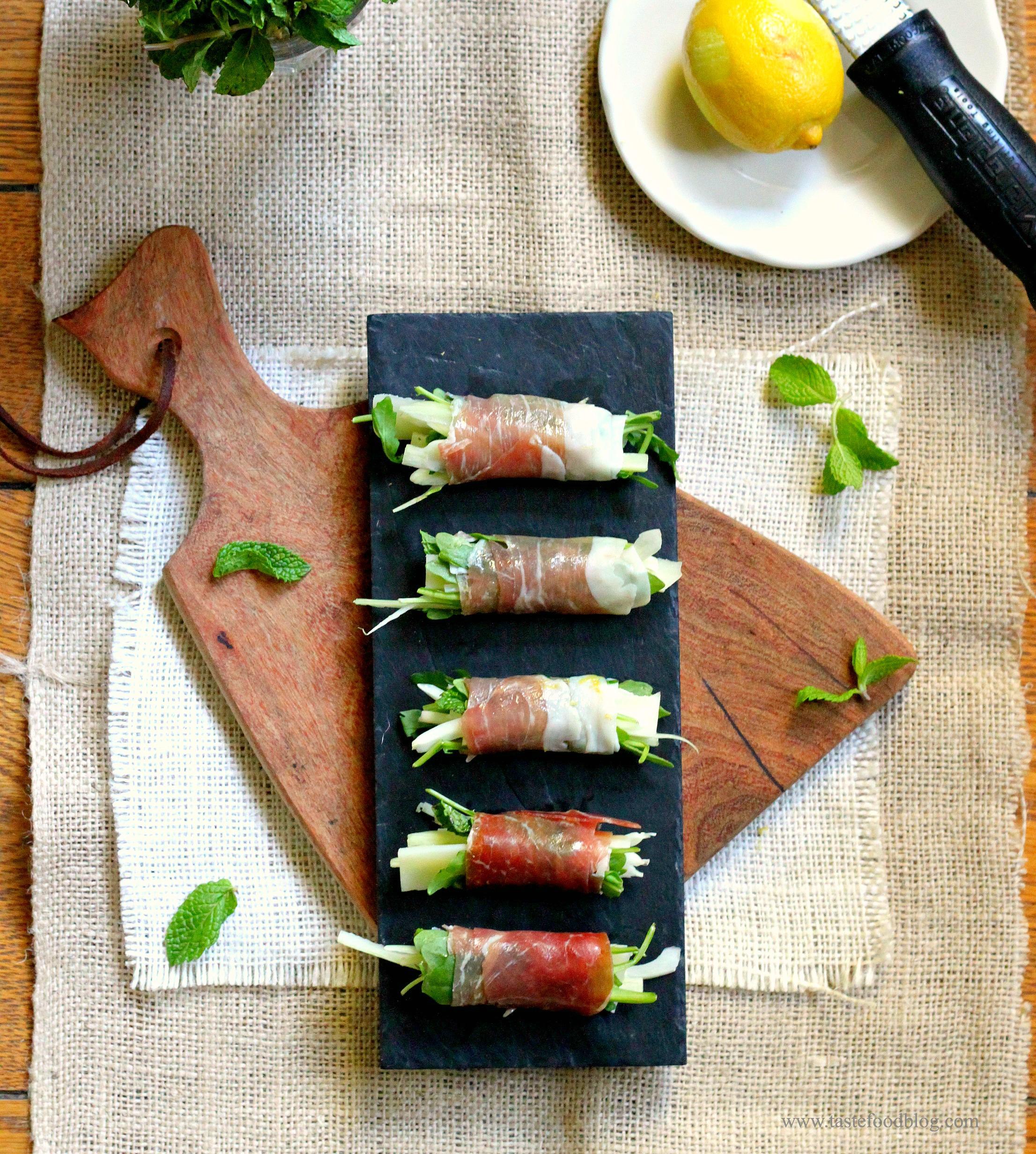 Prosciutto Arugula Prosciutto Rolls With Arugula