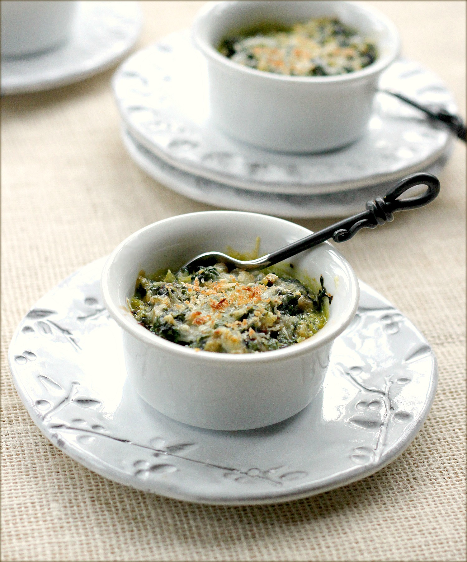creamed spinach gratin spinach gratin with hardboiled hard boiled ...