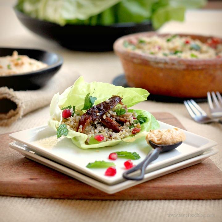 Lamb Pomegranate Lettuce TasteFood