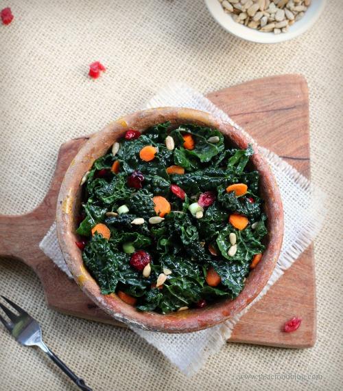 kale carrot salad v tastefood