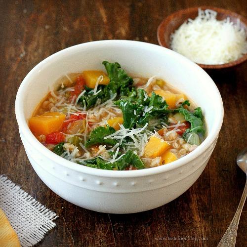 kale squash farro tastefoodxx