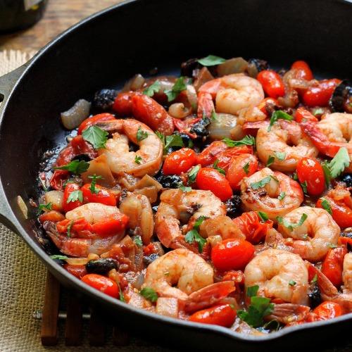 shrimp puttanesca x