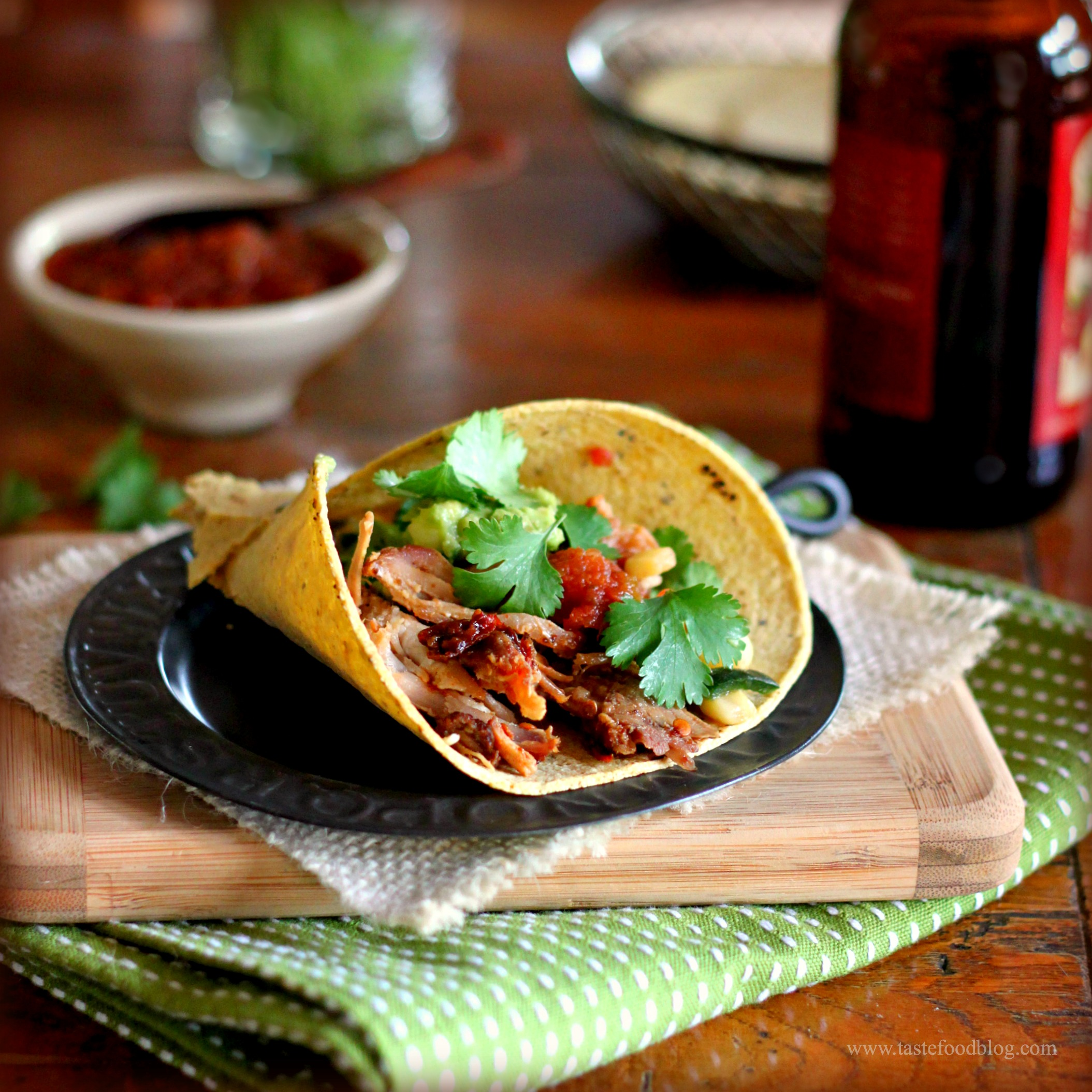 Chipotle Beer Braised Pork Carnitas ~