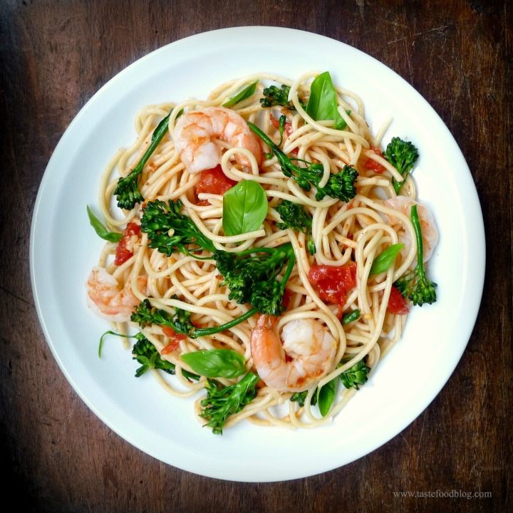 broccoli shrimp pasta tastefood