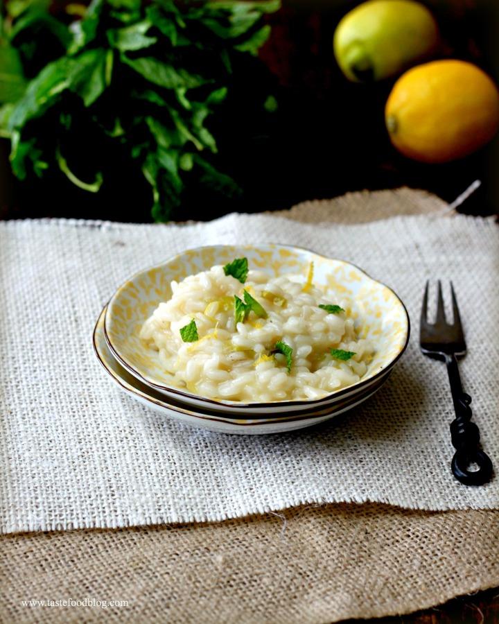 Lemon Mint Risotto TasteFood