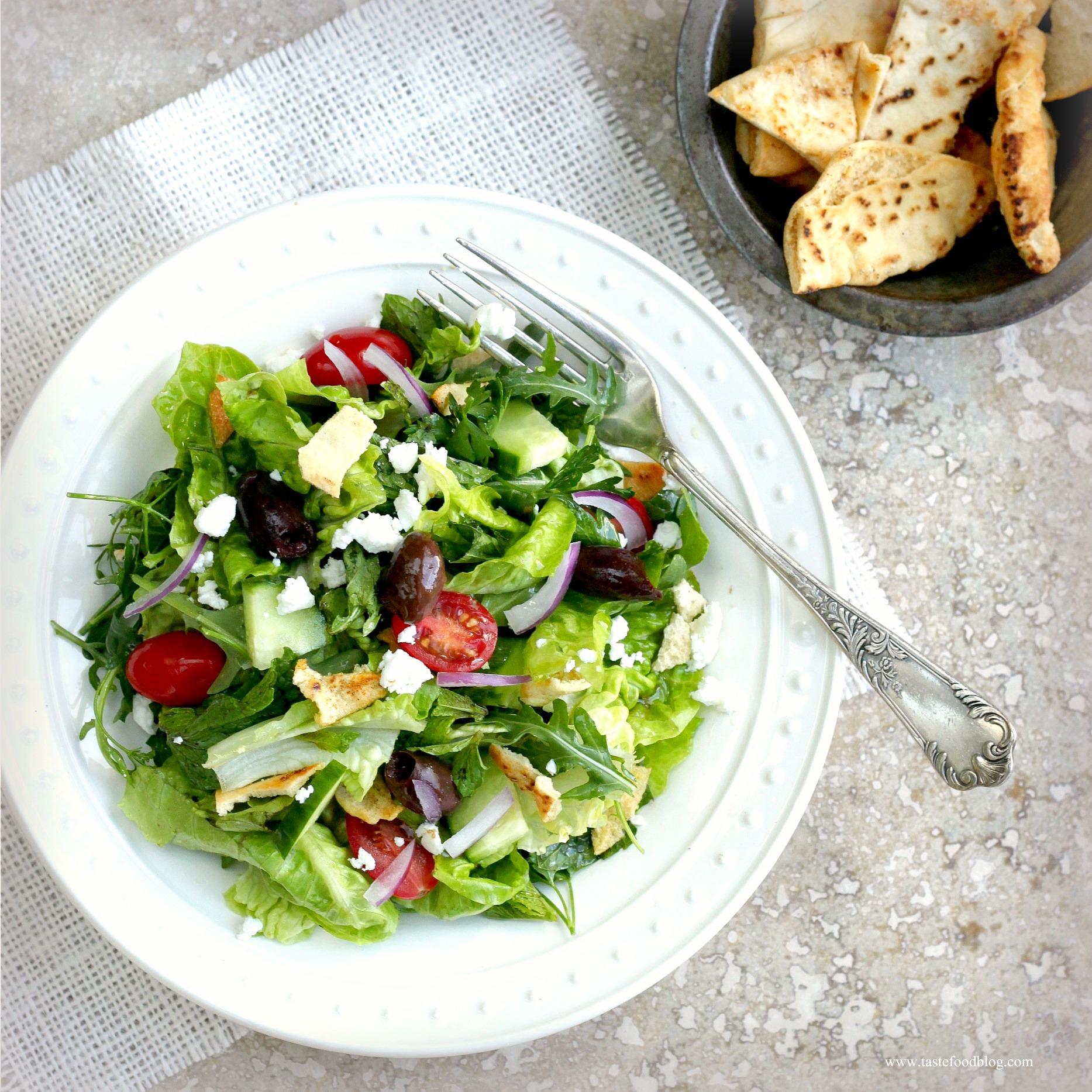 Middle Eastern Fattoush Salad | TasteFood