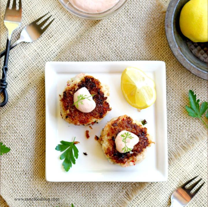 fish cake plate tastefood