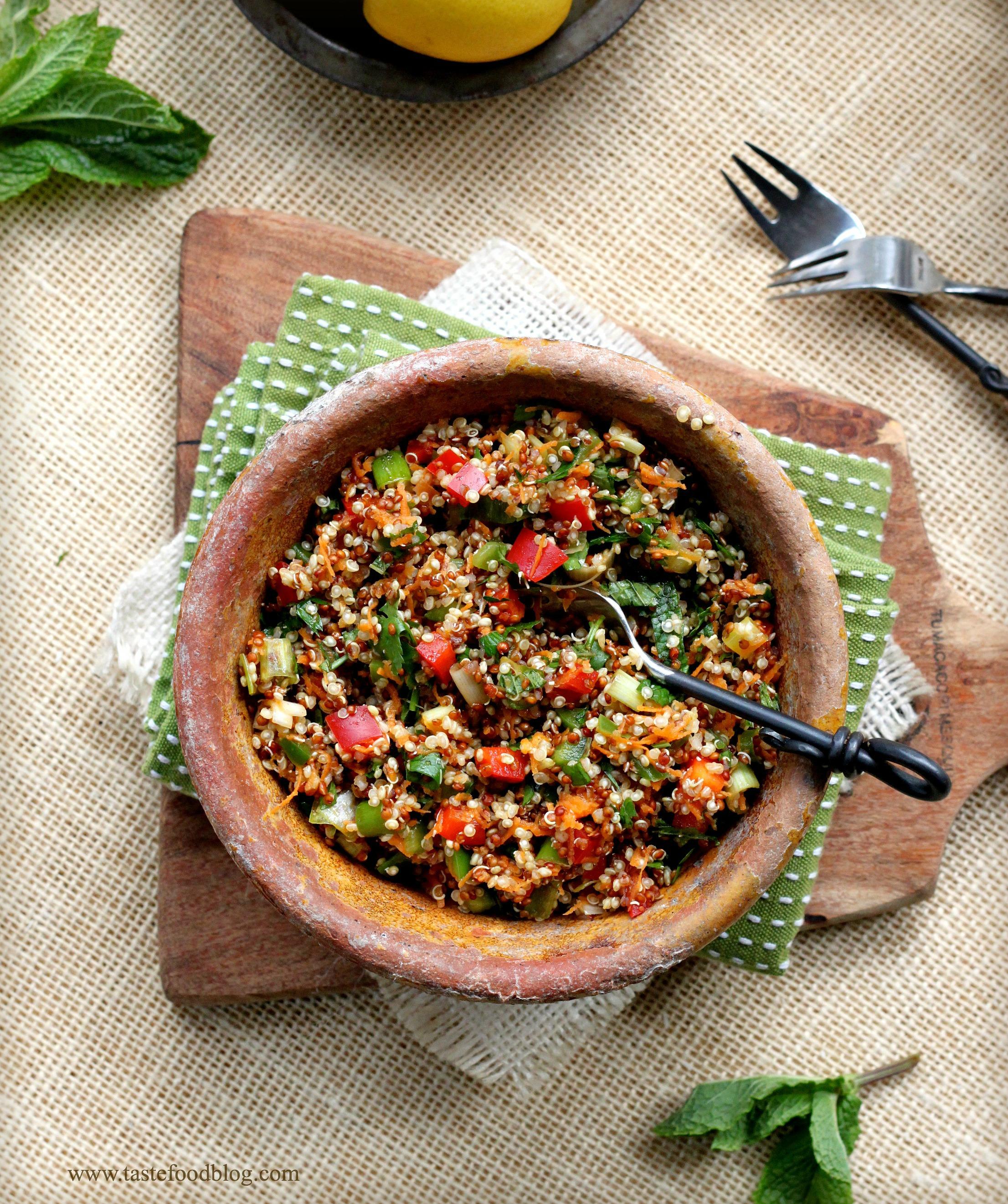 Quinoa Tabbouleh Salad | TasteFood