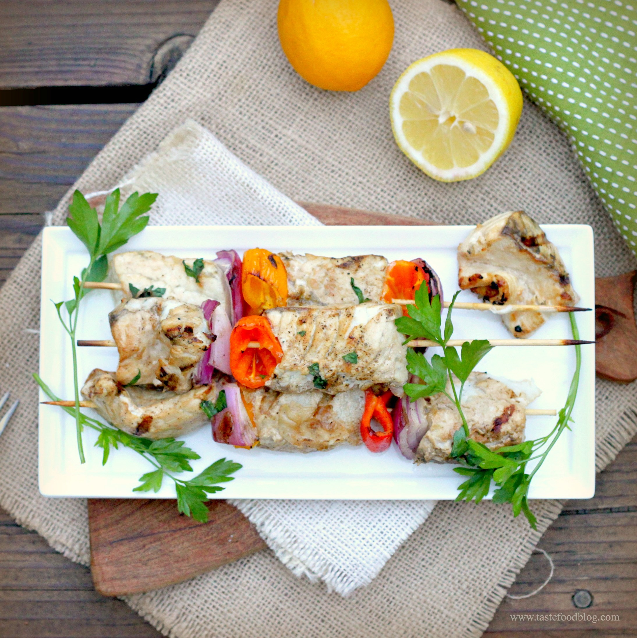 Grilled fish and vegetable skewers with barramundi tastefood for What vegetables go with fish