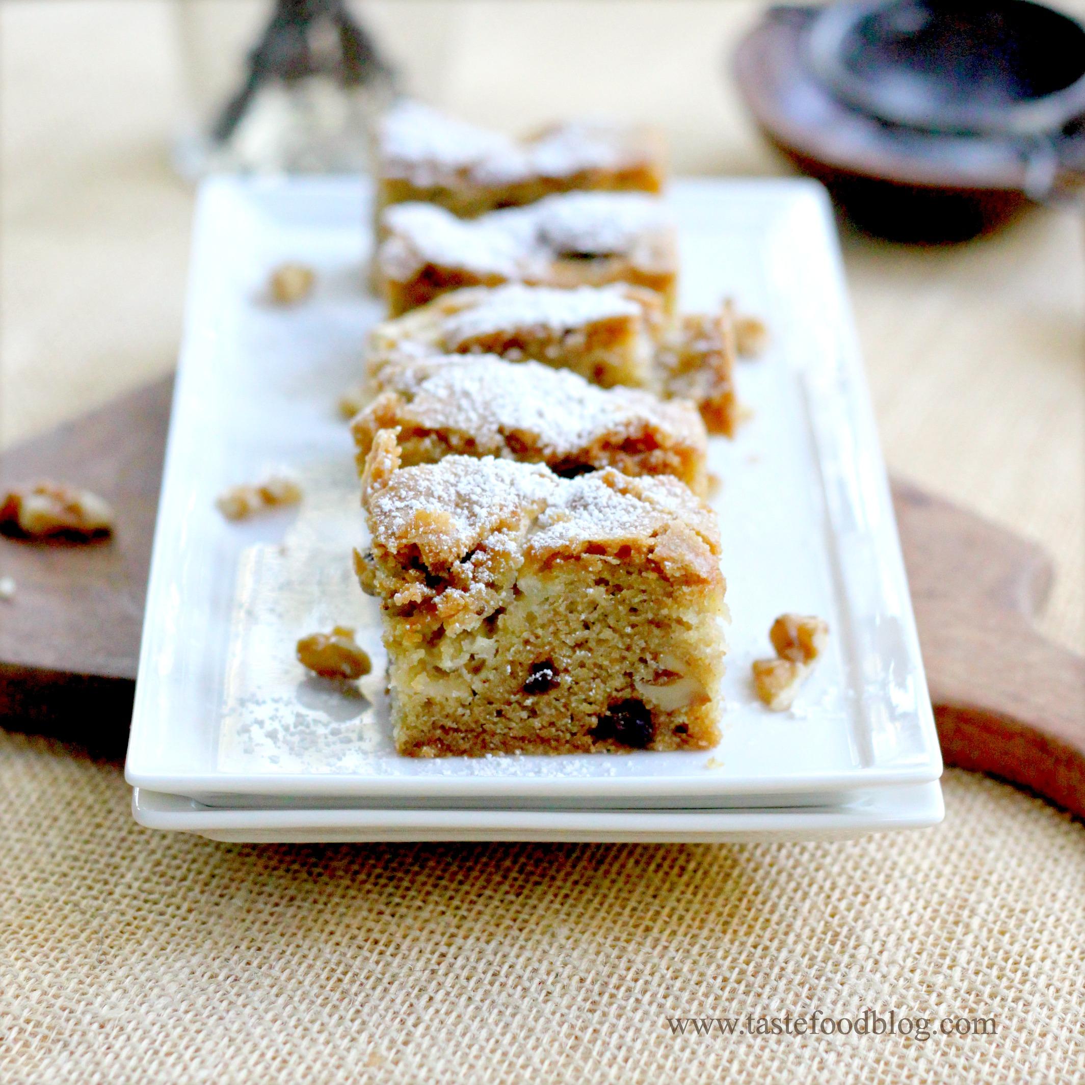 Apple raisin walnut cake recipe