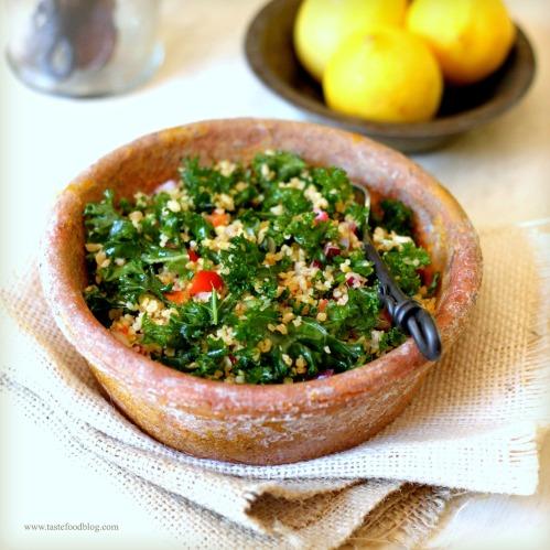 Kale Tabbouleh Salad | TasteFood