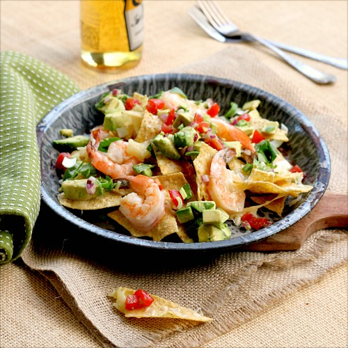 Shrimp and Cheese Nachos   TasteFood