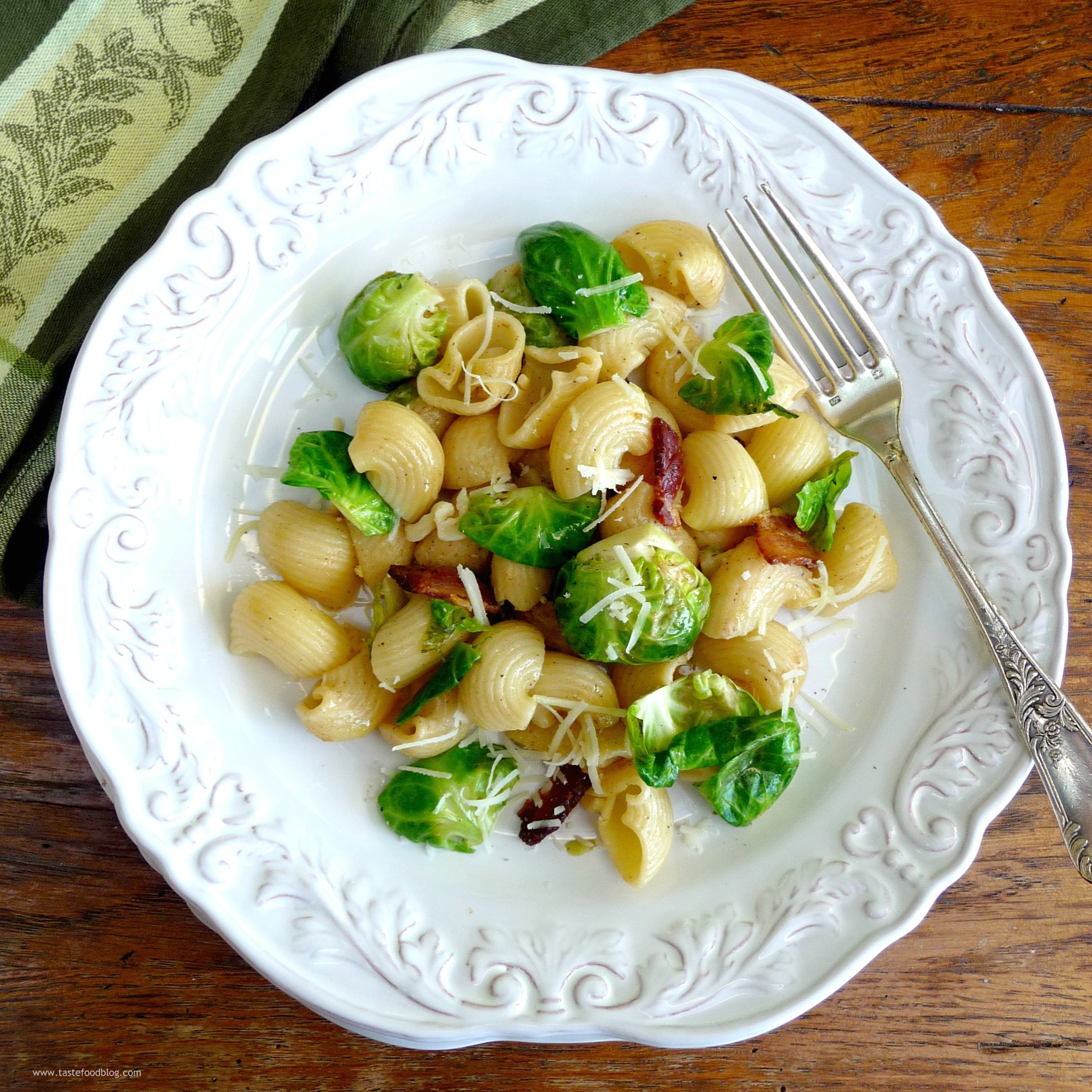 Pasta with Bacon and Brussels Sprouts | TasteFood