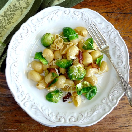 Bacon Brussel Sprout Pasta tf