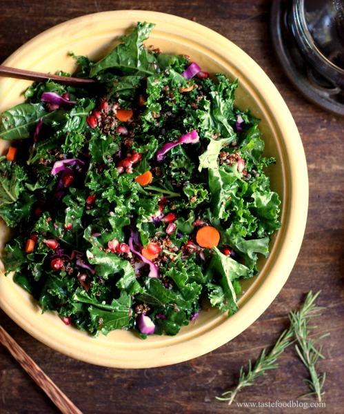 kale quinoa salad tastefood