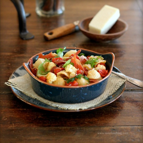 of Europe: Roasted Cauliflower and Tomato Pasta with Crispy Prosciutto ...