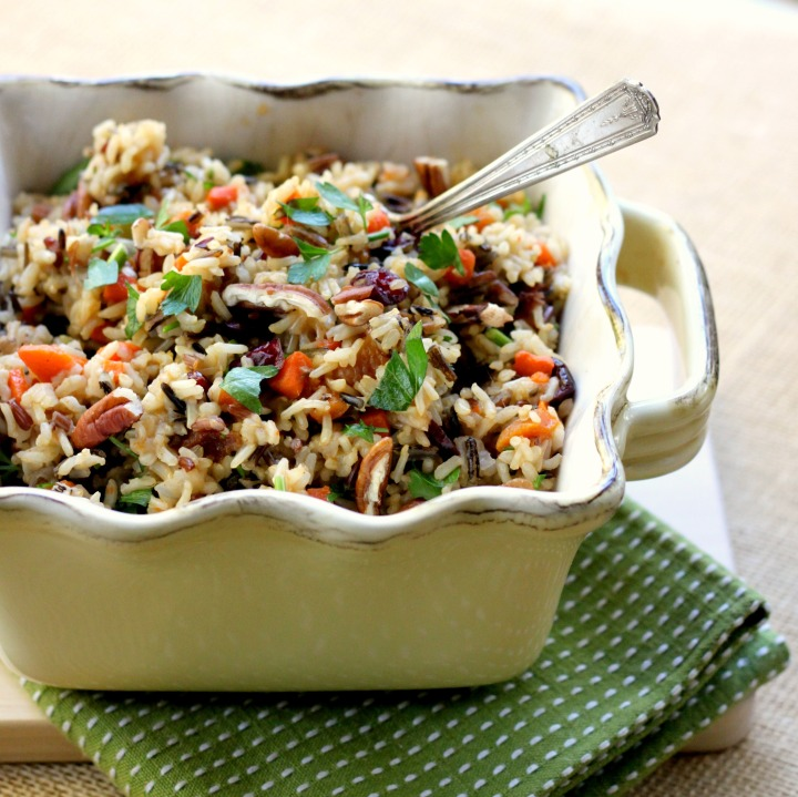 Warm Wild Rice Salad with Dried Fruit and Nuts
