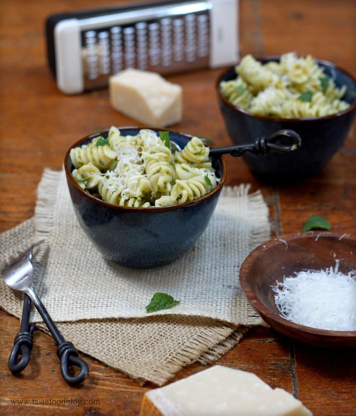 pesto pasta tastefood