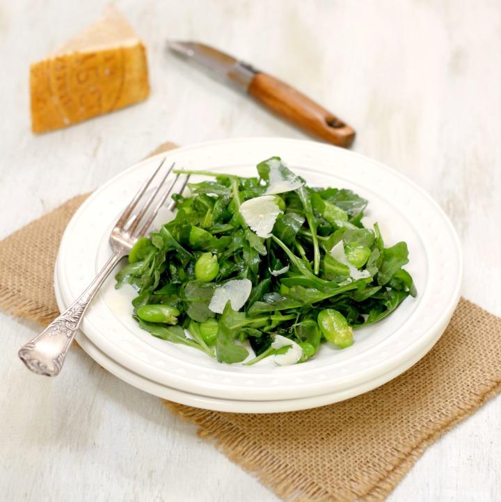 fava green salad