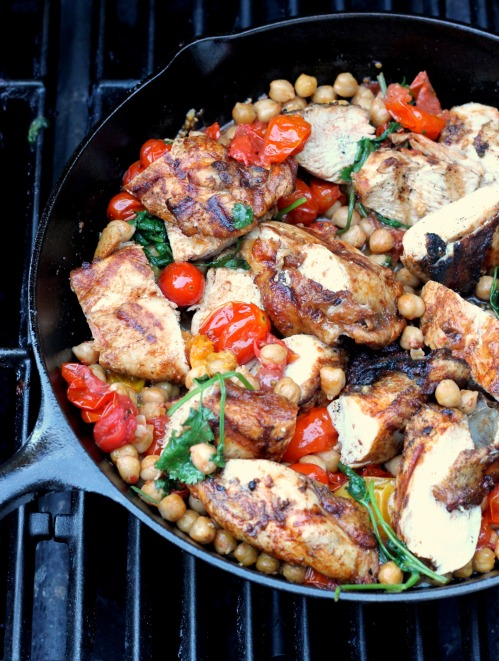 Grill and a Skillet: Yogurt Marinated Chicken Breasts with Tomatoes ...