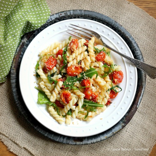 Gemelli Pasta with Roasted Tomatoes, Arugula, and Olive Oil ...