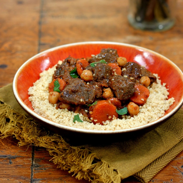 Moroccan Lamb Stew with Apricots and Chickpeas