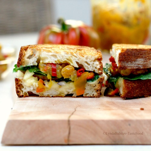 Ploughman's Grilled Cheese Sandwich with Apple Chile ...