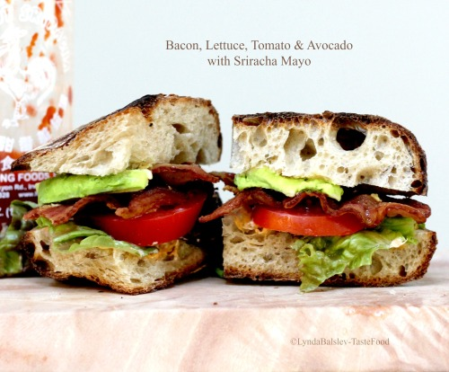 BLT with Avocado and Sriracha Mayo | TasteFood