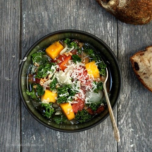 Winter Vegetable Soup with Greens and Grains   TasteFood