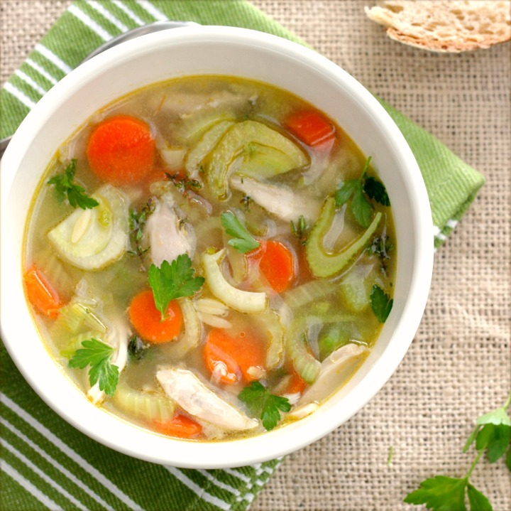 Chicken Vegetable Soup with Green Garlic