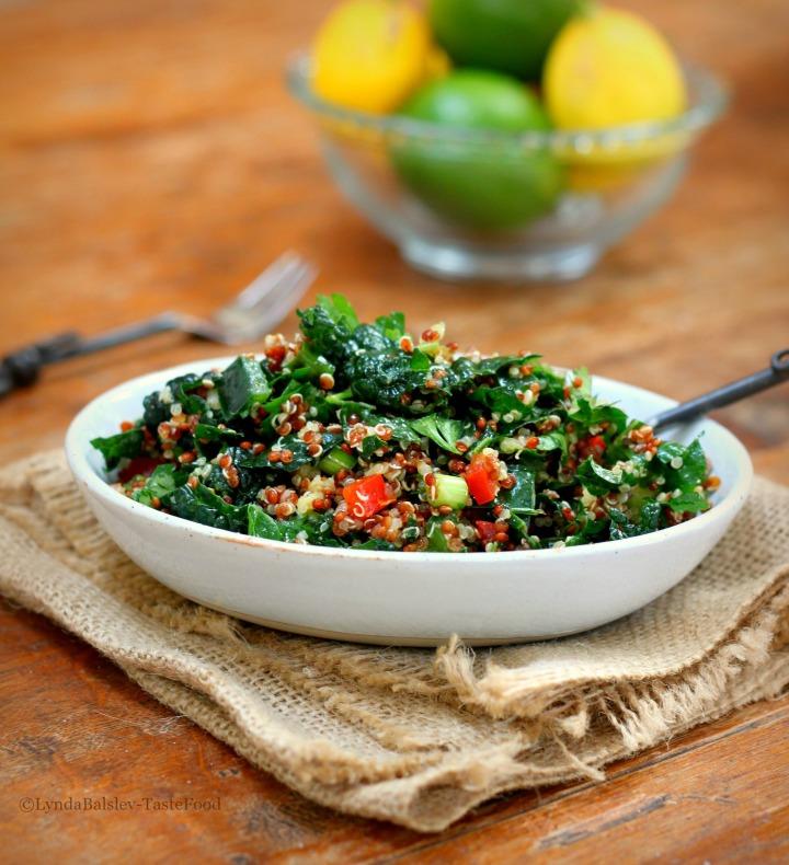 Winter Quinoa Kale TabboulehSalad