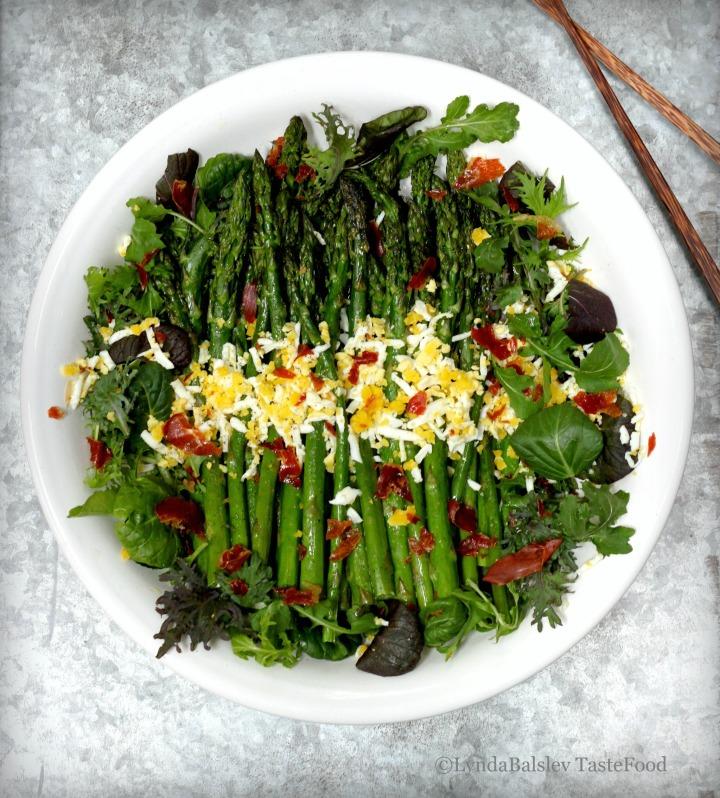 Easter Brunch: Asparagus, Prosciutto, Egg MimosaSalad