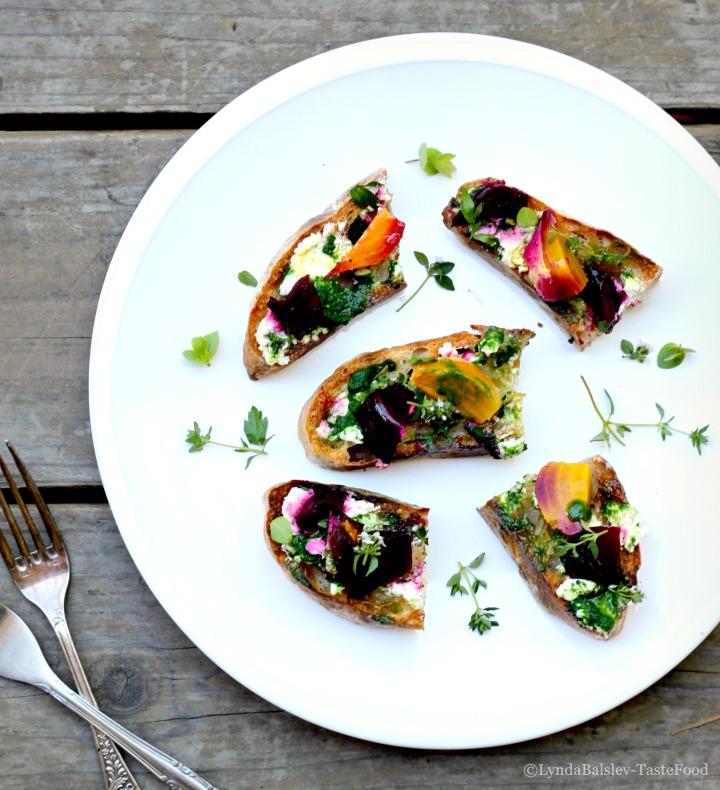 beet pesto plate tastefood