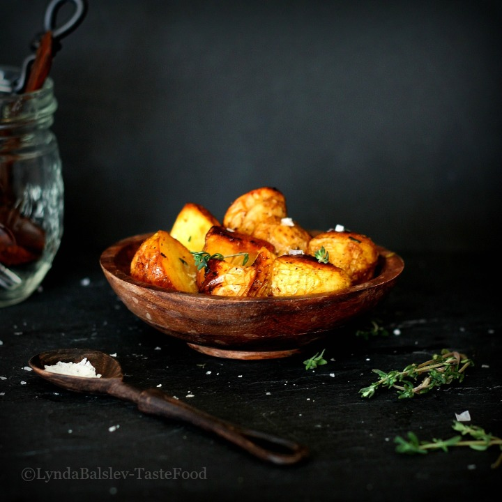 Simple Roasted Potatoes with Thyme and Sea Salt