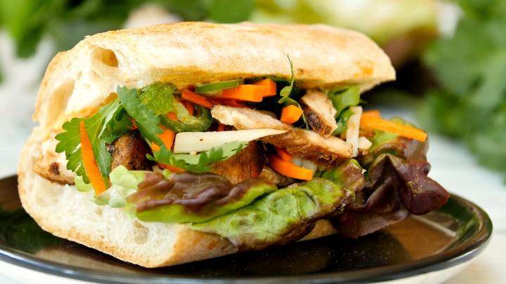 Chicken Banh Mi Sandwich Recipe and Video #NationalSandwichDay