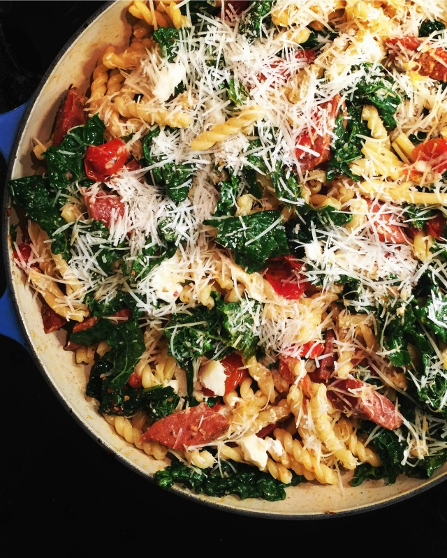 Easy one pot pasta dinner in 30 minutes