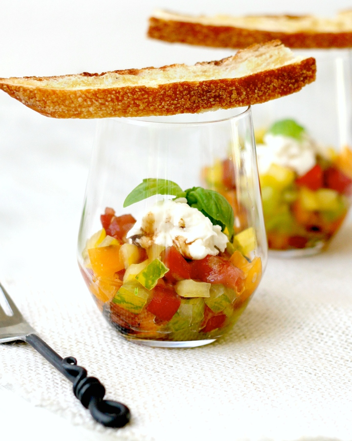 Heirloom Tomato and Burrata Parfaits