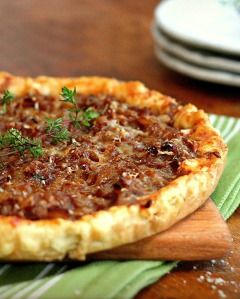 Rustic Onion Tart with Gruyere Cheese and Thyme