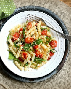 Easy Gemelli Pasta with Roasted Tomatoes