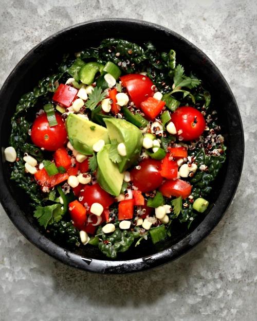 Summer Salad Tomato Corn Avocado