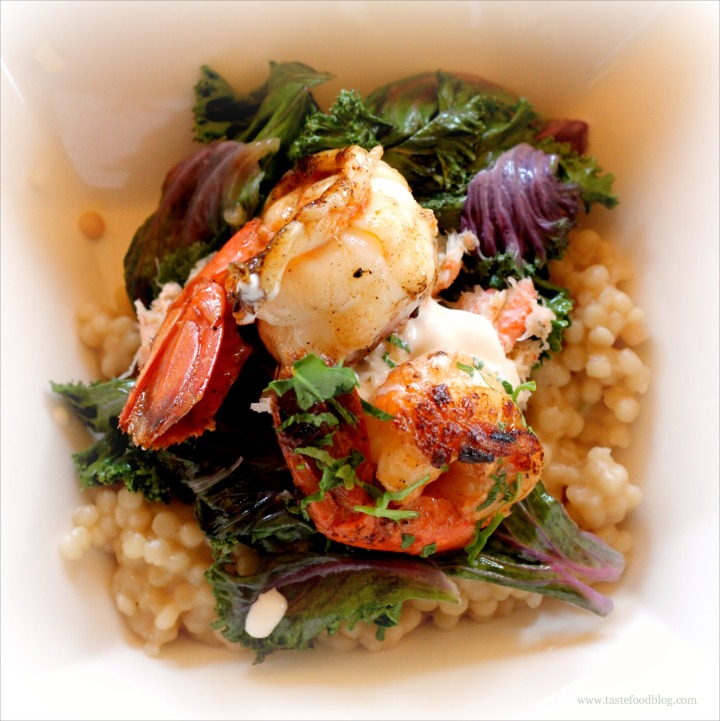 Alaska Memories and a recipe for Shrimp, Kale and Pearl Couscous