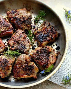 Porcini and Rosemary Crusted Lamb Chops Recipe