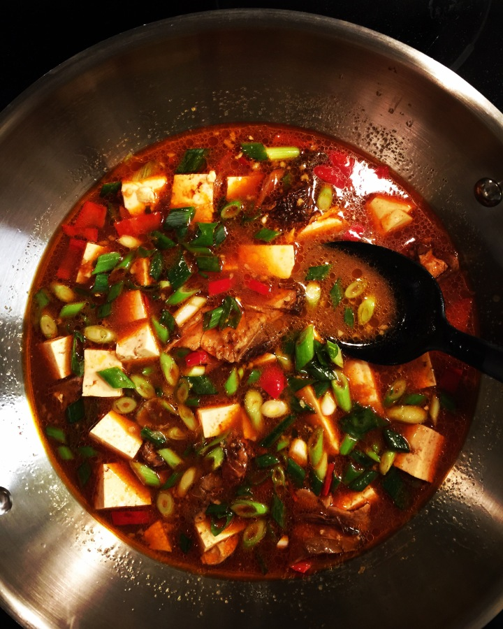 Homemade Ma Po Tofu Soup