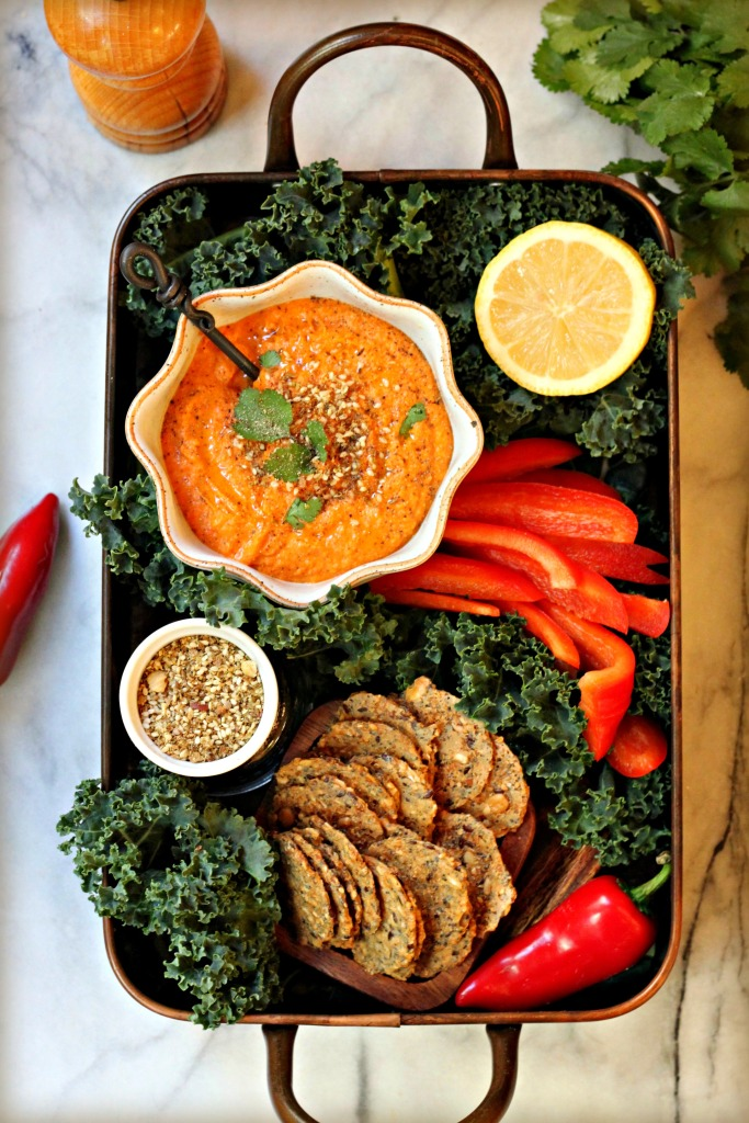 Smoky Red Pepper Hummus Dip
