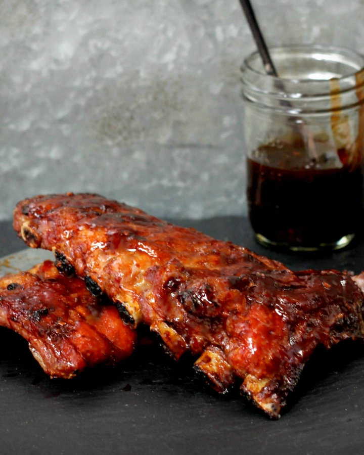 Pomegranate Lacquered Baby Back Ribs