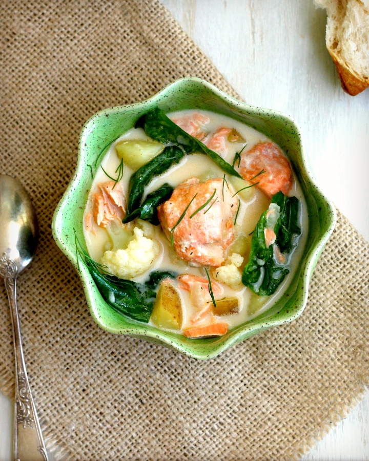 FIsh Chowder with Salmon